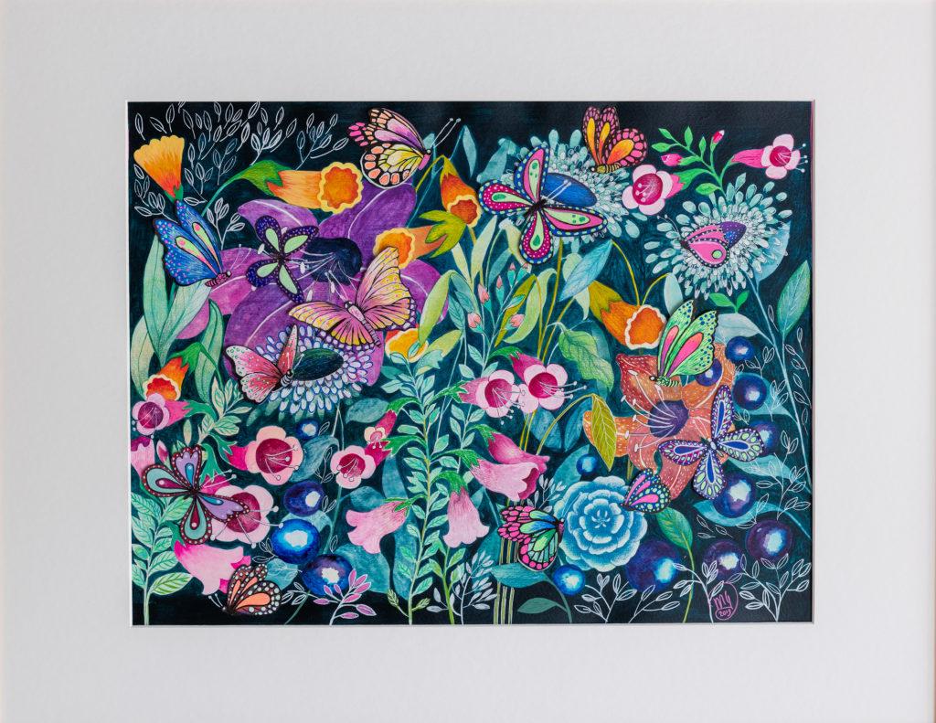 bloemen schilderij tafel acrylverf